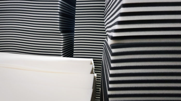 Variants of our foam material.