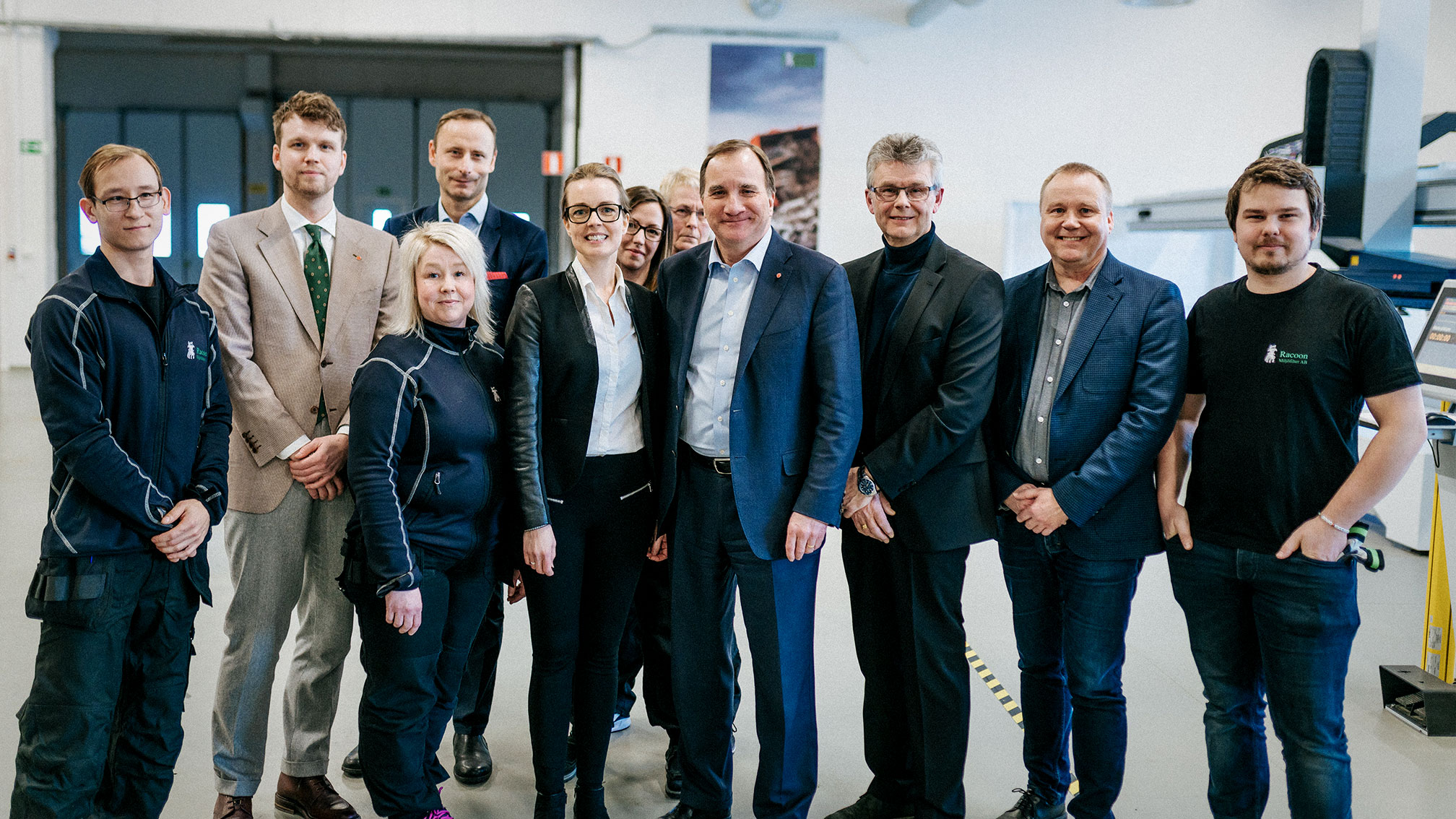 Prime Minister Stefan Löfven visited our factory in February 2018.