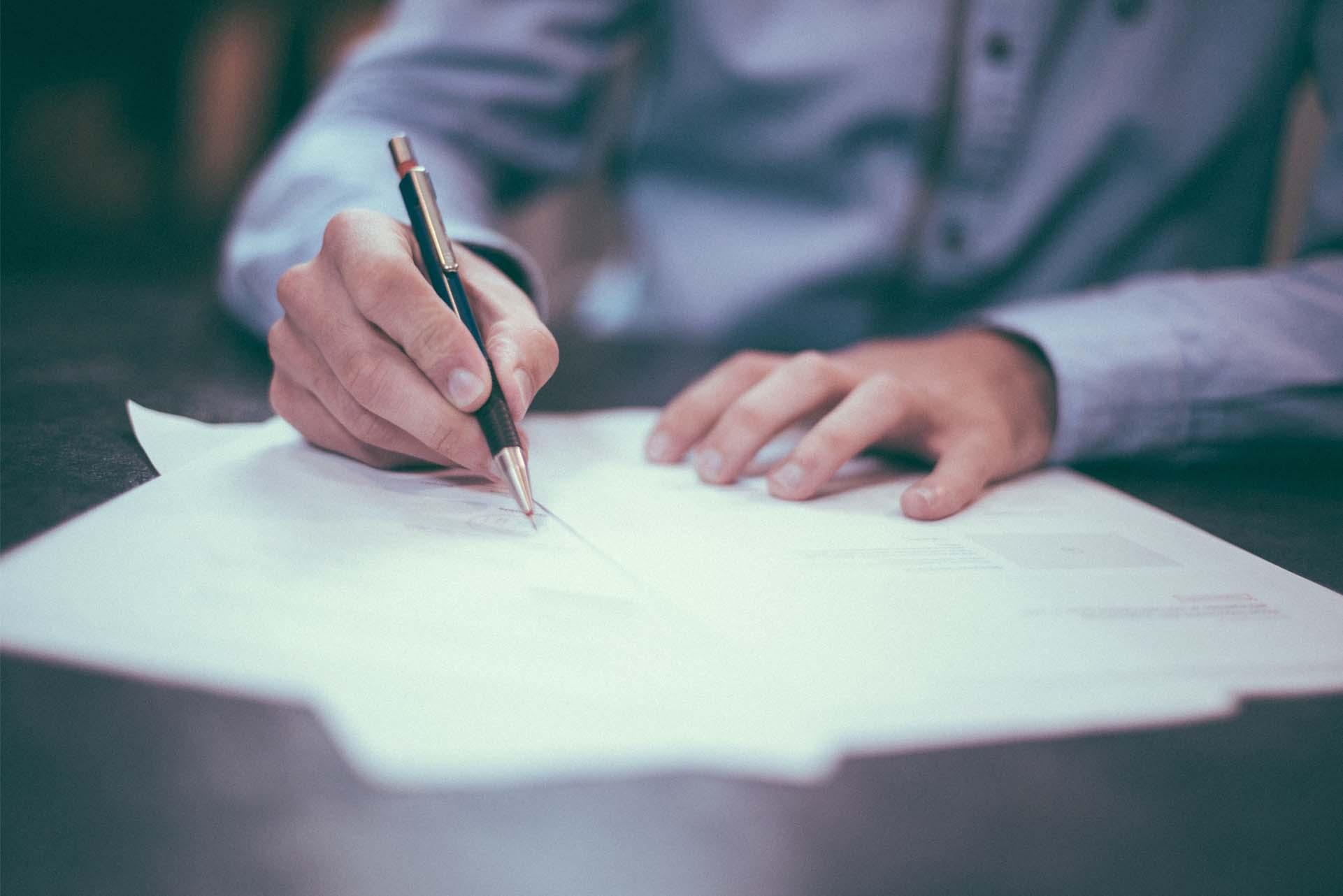 Skriver dokument, miljörapport