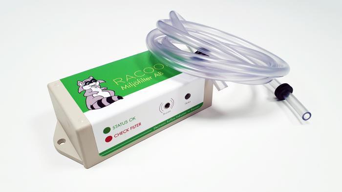 En elektronisk givare från Racoon Miljöfilter AB